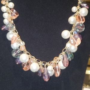 💝 Pearl and pastels Beautiful necklace
